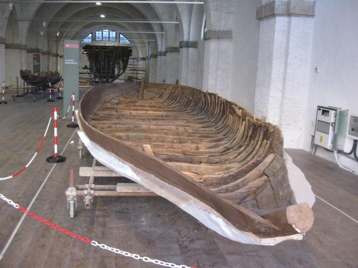 Museo delle navi antiche di Pisa, il traghetto per i bassi fondali, nave I