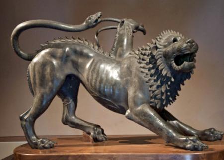 La Chimera di Arezzo, il mitico mostro che distrugge le messi vomitando fuoco (V-IV sec. a.C.)