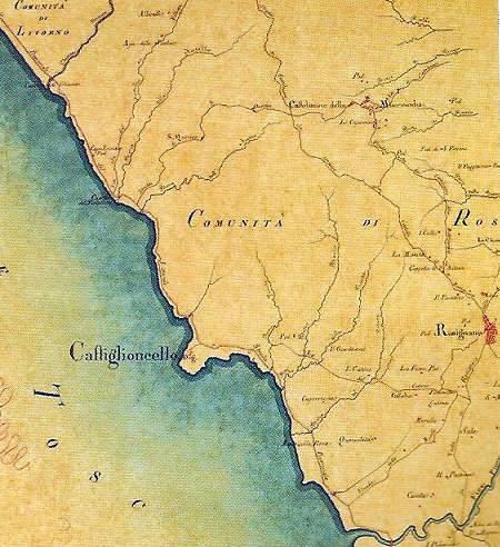 Costa a sud di Livorno (1835)