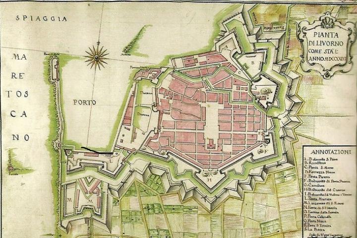 Pianta di Livorno (1776)