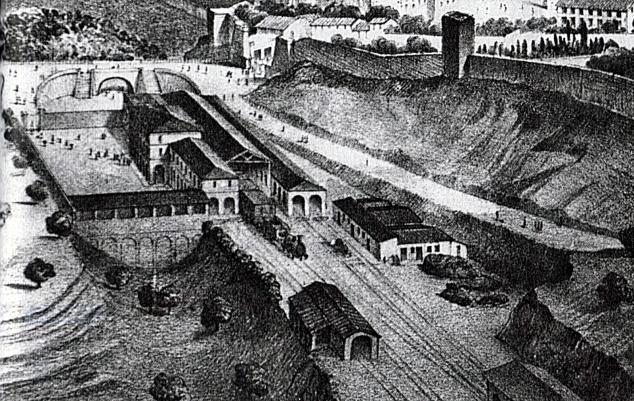 Stazione di Siena (1850) da G. Catoni, cit.