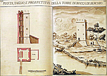 Torre Riccardi a Bocca di Serchio (prima metà del Settecento)