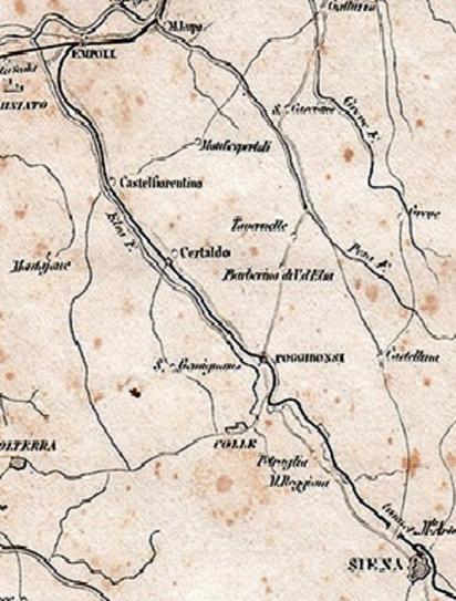 Tracciato della ferrovia Siena - Empoli