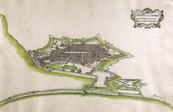 Veduta di Livorno (metà XVVII secolo)